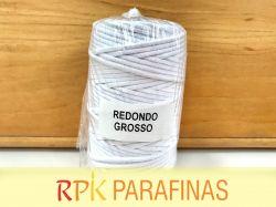 Rolo Pavio Redondo GROSSO 100% Algodão (64m)