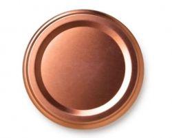 Tampa Pote de Papinha ROSE GOLD (Unidade)